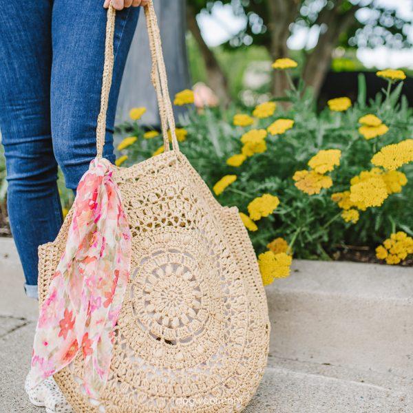 sunburst circle bag crochet pattern