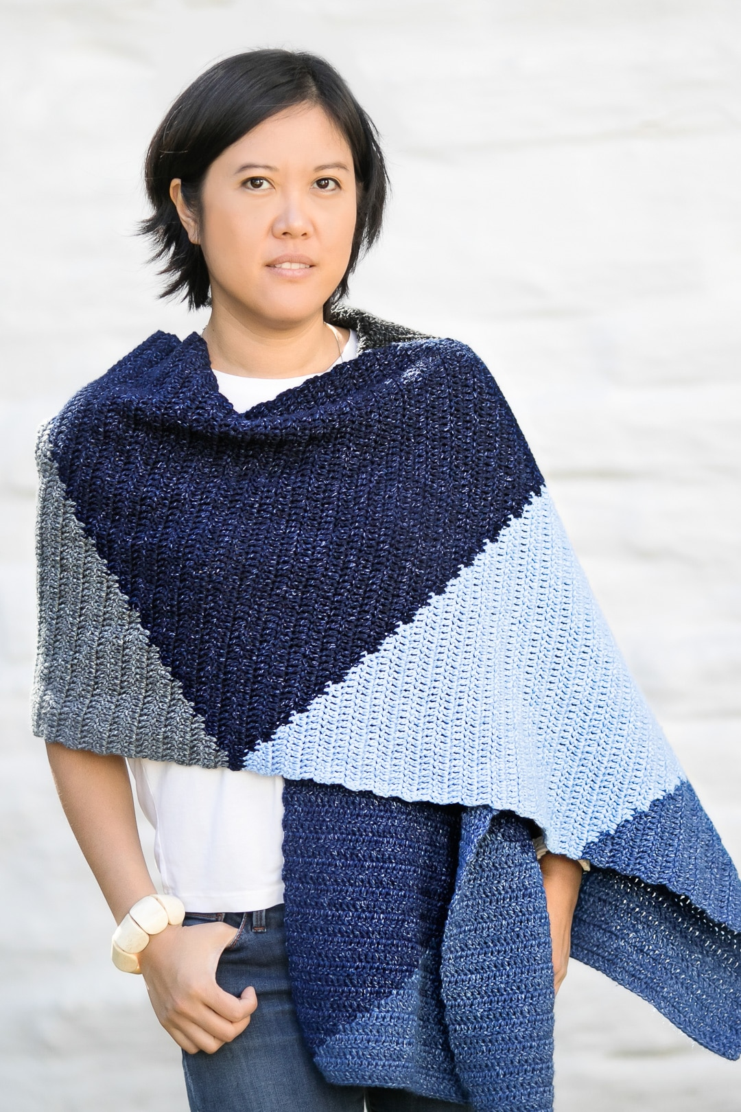 The Tangram Wrap: a Modern Crochet Scarf Wrap