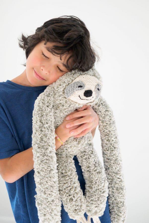 huggable lovable plush knit sloth