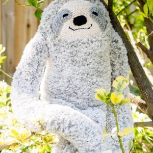 slow & furrious sloth knit plush