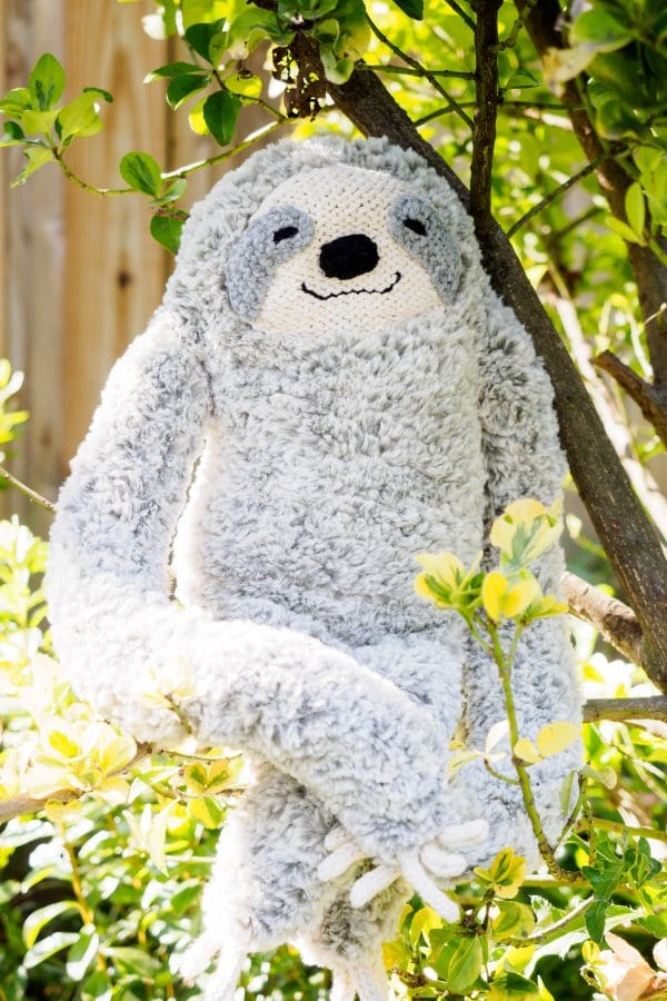 slow & furrious sloth knit plush