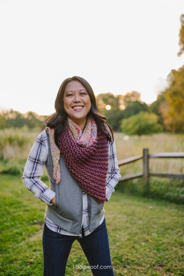 easy knit shawl for beginners