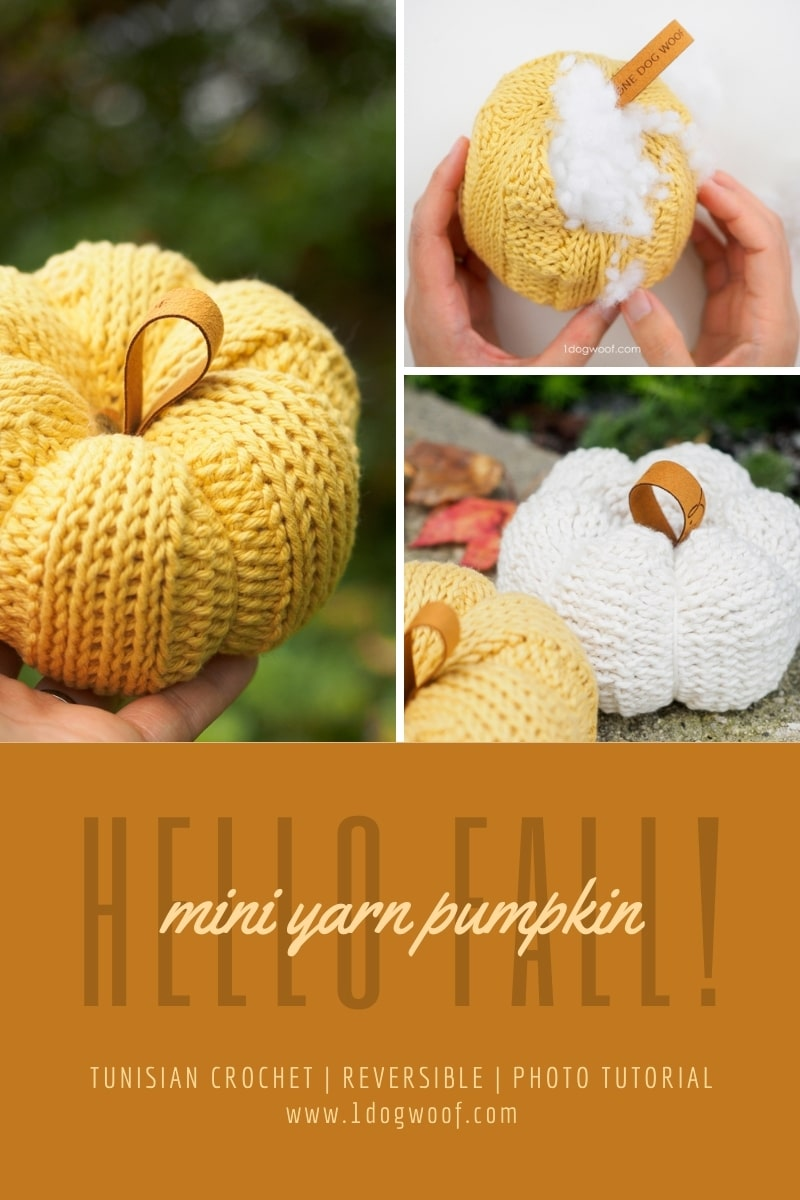 hello fall mini tunisian crochet pumpkin