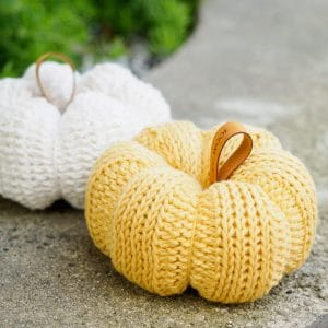 Tunisian Crochet Pumpkin
