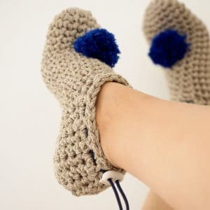 Thoughtful Details Make These Crochet Slippers Shine