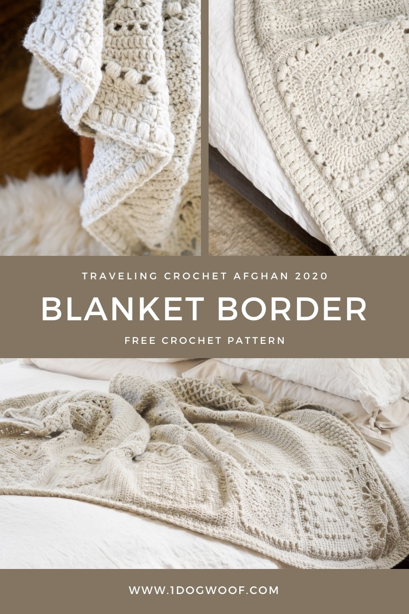 puff cluster crochet blanket border
