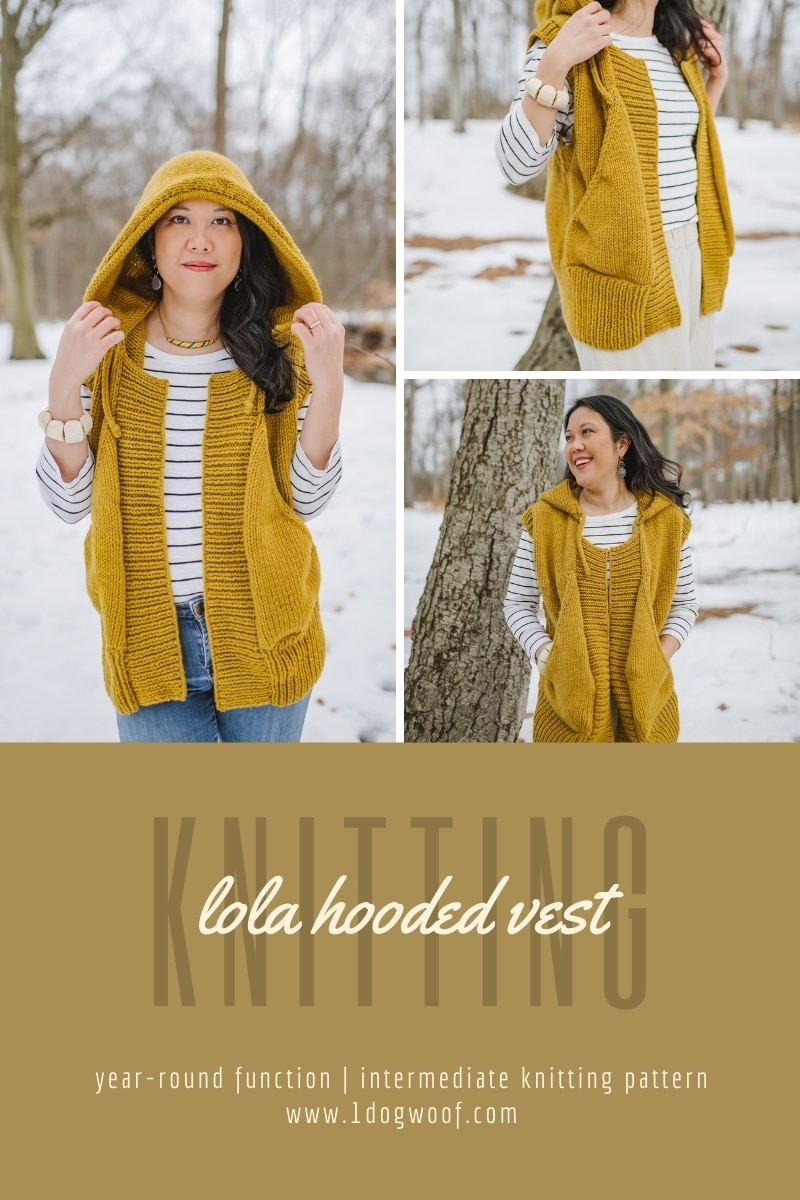 mustard Lola Hooded Vest