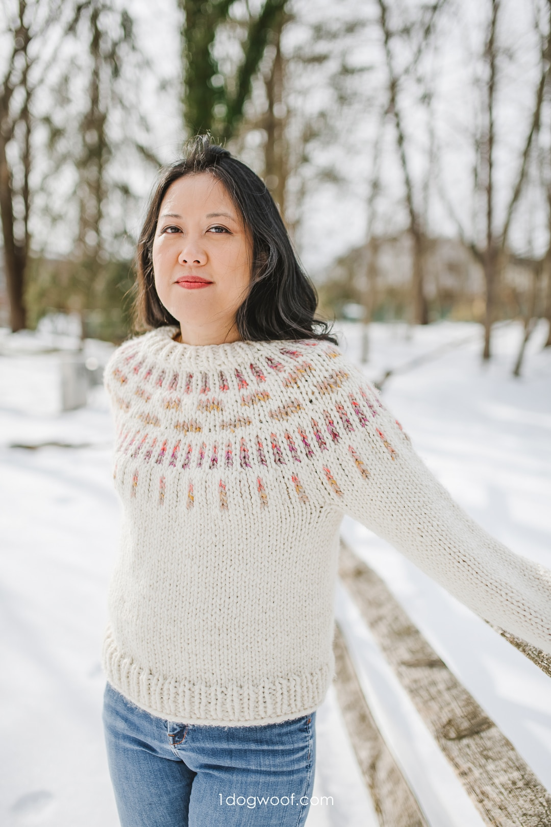 Falling Water Sweater: for Beginner Colorwork Knitters