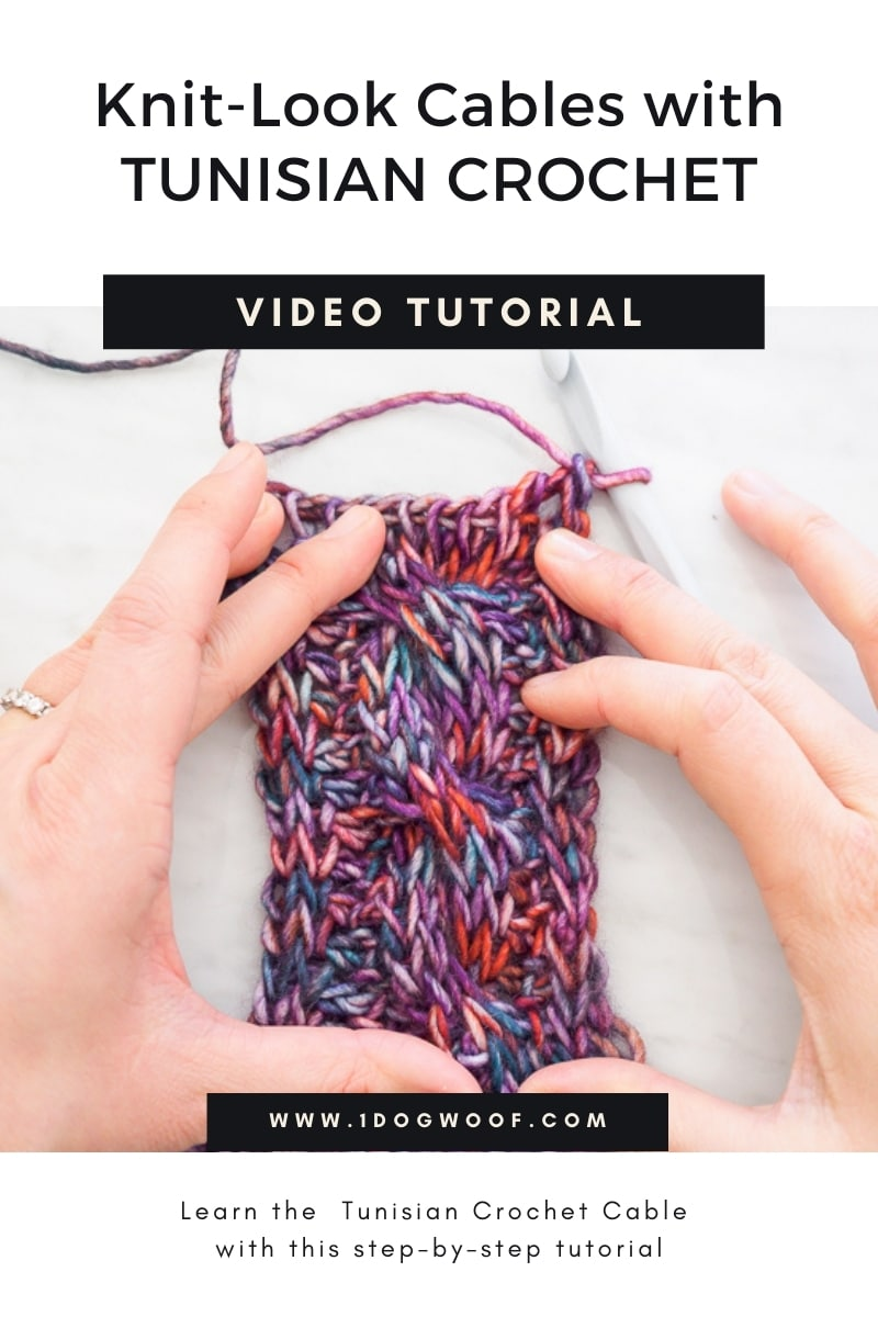 knit-look cables with Tunisian Crochet