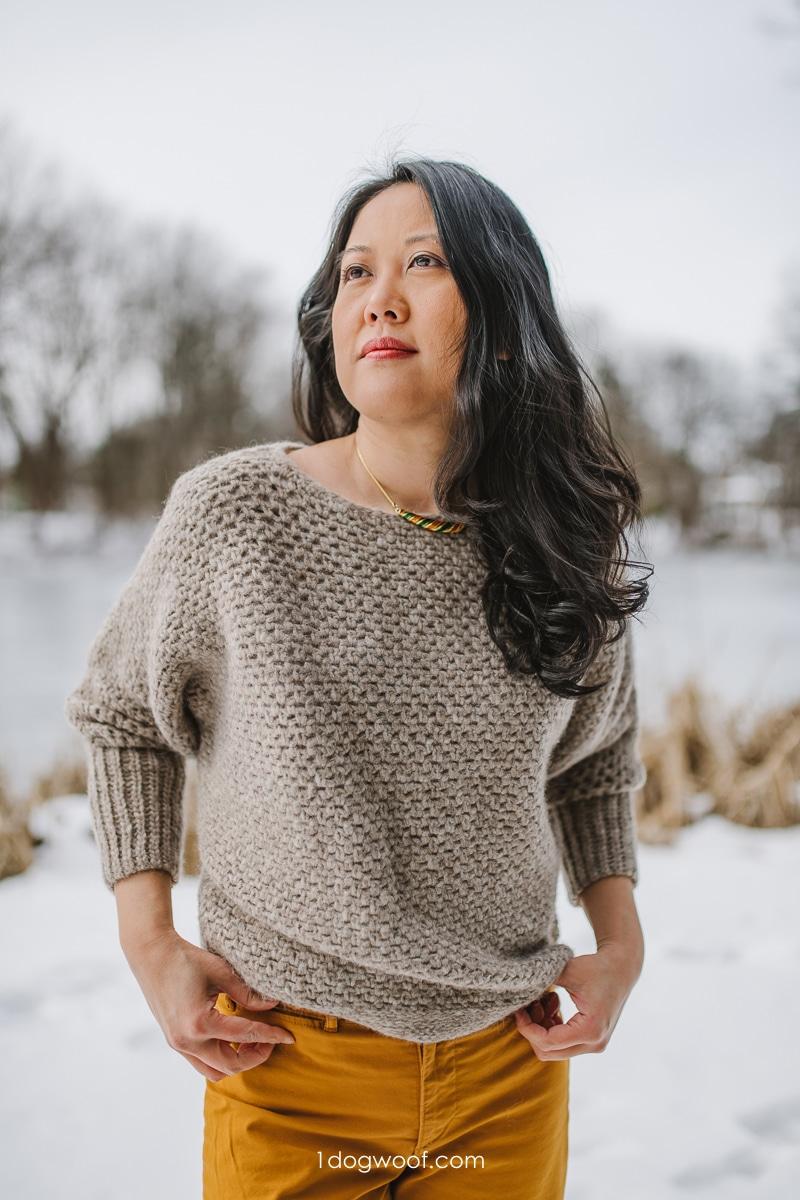crochet batwing sweater